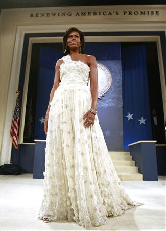 For the inaugural ball, Michelle Obama wore a Jason Wu creation