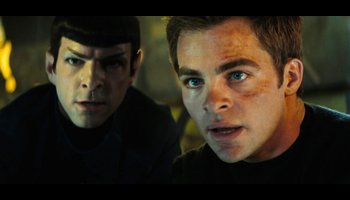 Captain Kirk and First Officer Spock
